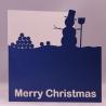 Snowman Silhouette Christmas Card