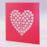 Red Laser Cut Hearts Card
