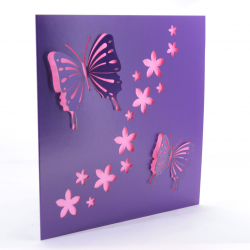 Purple Laser Cut Butterfly Card