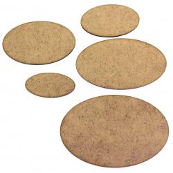 Wargame Oval Base - Pack of 10