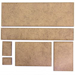 Wargame Rectangle Base - Pack of 10