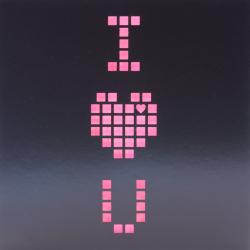Black Laser Cut Pixel Valentines Card