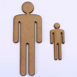 Male Person Shape Craft Shape