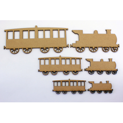Train and Carriage Craft Shape