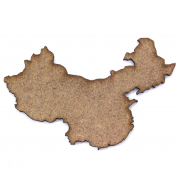 China Country Map Outline Craft Shape