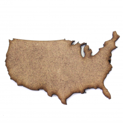 USA America Country Map Outline Craft Shape