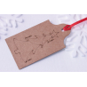 Etched Christmas Tree Gift Tag - 6 Pack