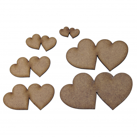 Joined Heart Pair Craft Shape