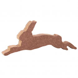 Free Standing Jumping Hare Shape