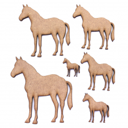 Standing Horse Craft Shape
