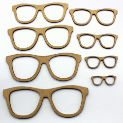 Geek Glasses Craft Shape