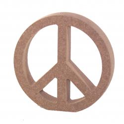 Free Standing Peace Symbol Shape
