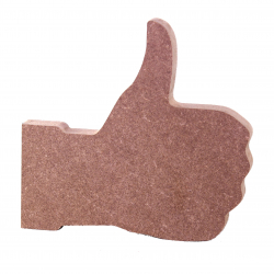 Free Standing Thumbs Up Shape