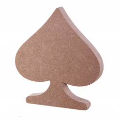 Free Standing Spade Symbol Shape