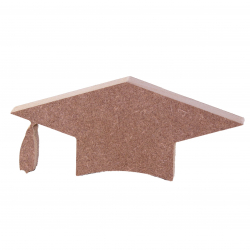Free Standing Graduation Cap Shape