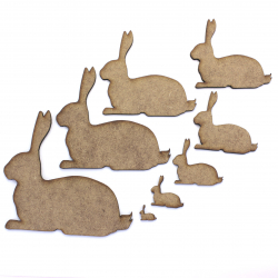 Laying Rabbit Craft Shape