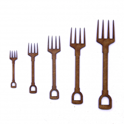 Garden Fork Craft Shape