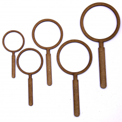 Magnifying Glass Craft Shape