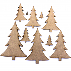 Christmas Tree MDF Craft Shape