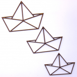 Geometric Origami Boat Craft Shape