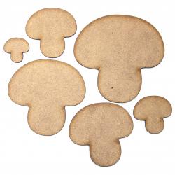 Button Mushroom Craft Shape