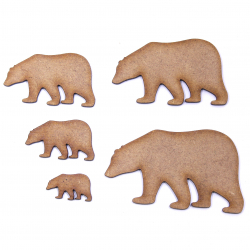 Polar Bear Craft Shape