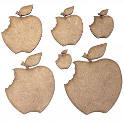 Apple with Bite Craft Shape