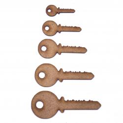 Door Key Craft Shape
