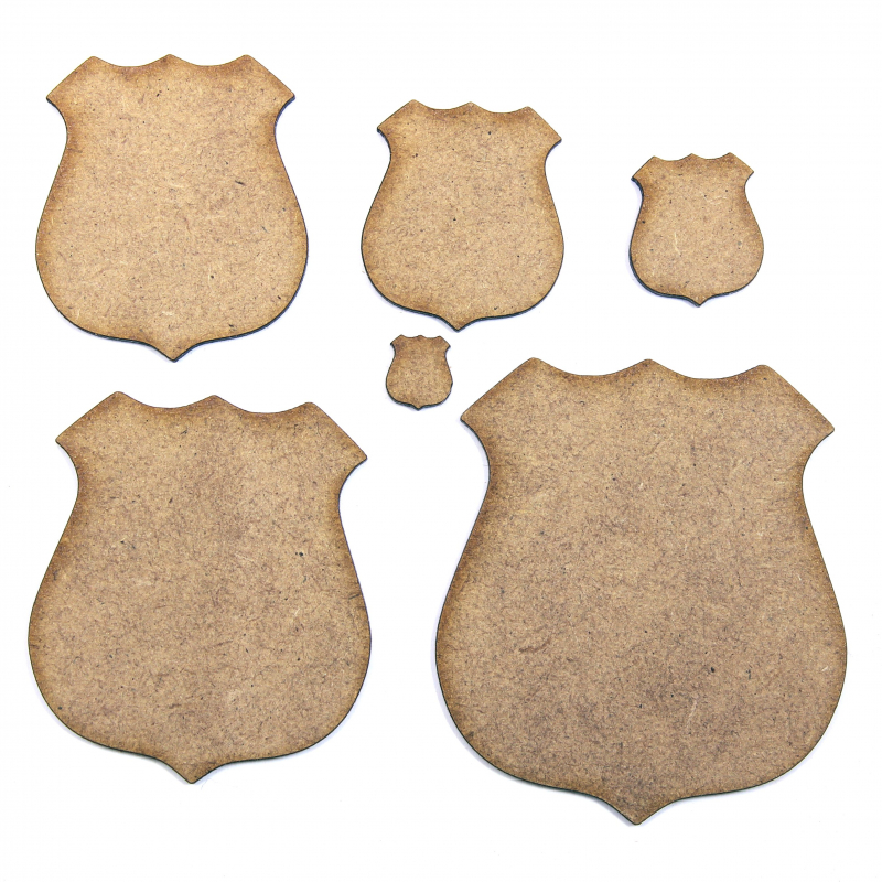 Police Badge MDF Craft Shapes