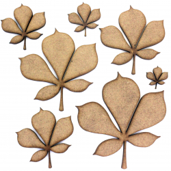 Horse Chestnut Leaf Craft Shape