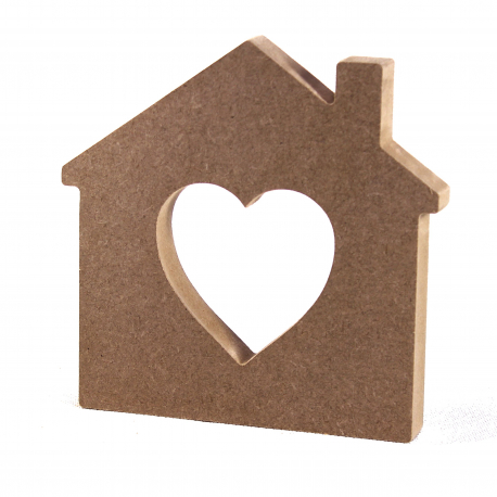 Free Standing House with Heart Shape