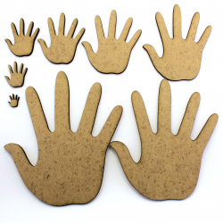 Hand MDF Craft Shape