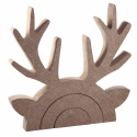 Free Standing Rudolph Reindeer Stacking Shape