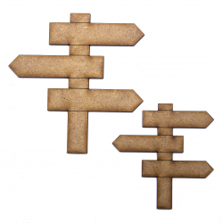 Signpost Craft Shape