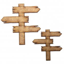 Rustic Aged Signpost Craft Shape