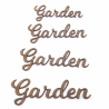 Garden Word Craft Shape
