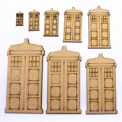 Dr Who Tardis Craft Shape