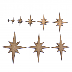 Christmas Star Craft Shape