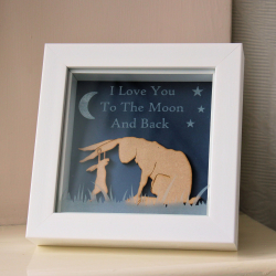 """Guess How Much I Love You"" Inspired Framed Decoration"