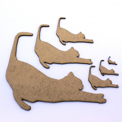 Cat Stretching Craft Shape