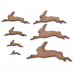 Jumping Hare Craft Shape