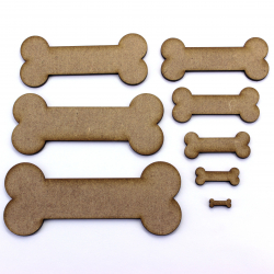 Bone MDF Craft Shape Animal Pet