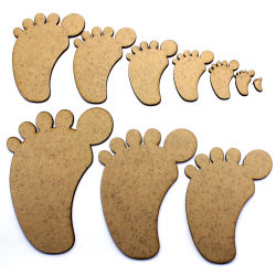 Foot Feet MDF Craft Shape
