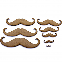 Moustache Craft Shape
