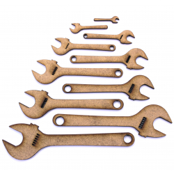Ajustable Spanner Craft Shape
