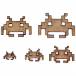 Space Invaders Alien Craft Shape
