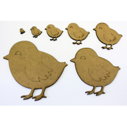 Easter Chick Craft Shape