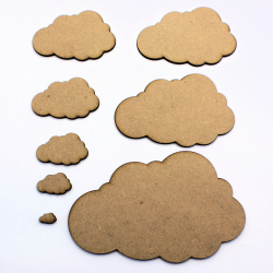 Cloud (non-Symmetrical) MDF Craft Shape
