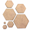 Hexagon MDF Craft Shape