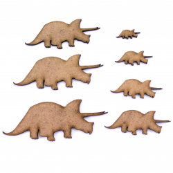 Triceratops MDF Craft Shape